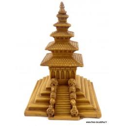 Stupa tibétain de temple en résine naturelle Objets rituels bouddhistes STUPAN4