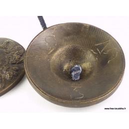 Tingshas tibétaines Dragon 7,2 cm TTD1