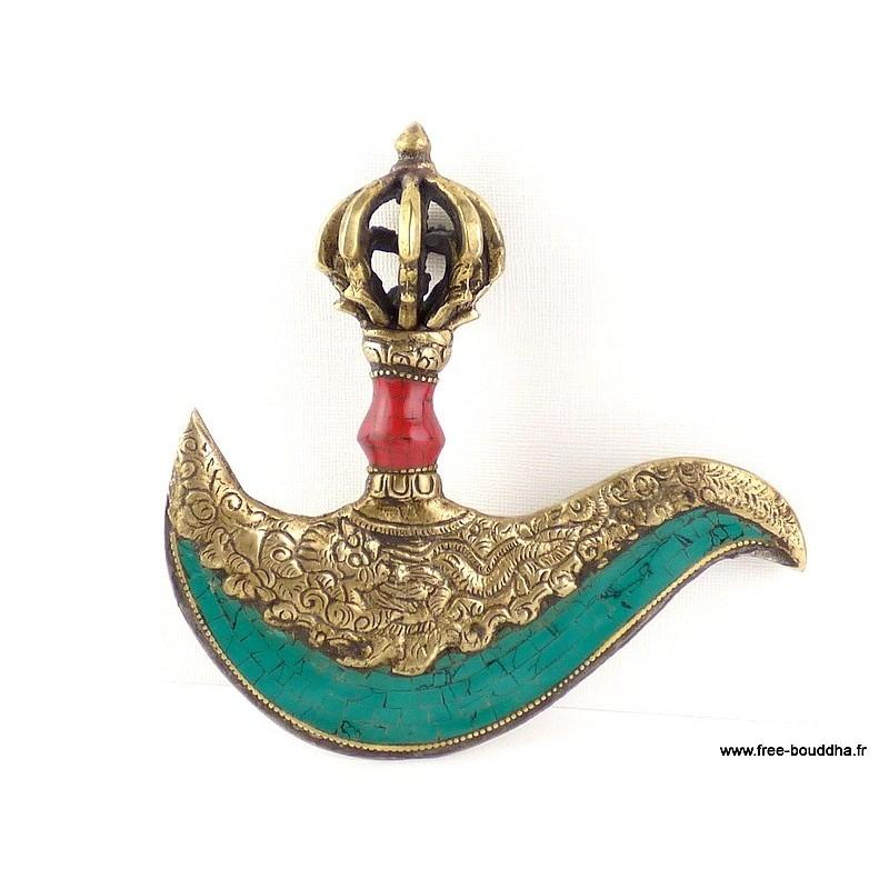 Kartika tibétain (drigug) serti de turquoises KART1