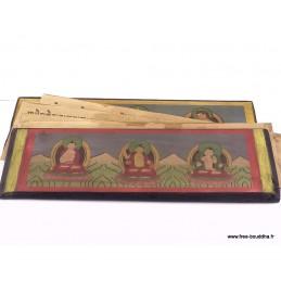 Livre de prières bouddhiste 24,5 cm ref 3794.2