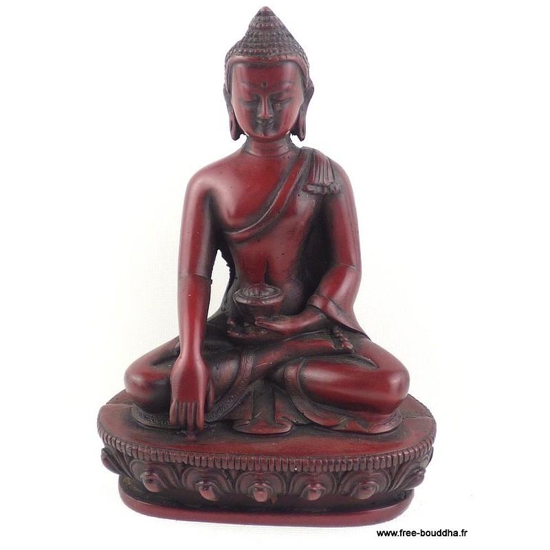 Statuette rouge Bouddha de médecine assis STARB1