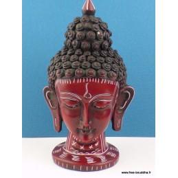 Statuette Tête de Tara couleur rouge 16 cm ref STV3