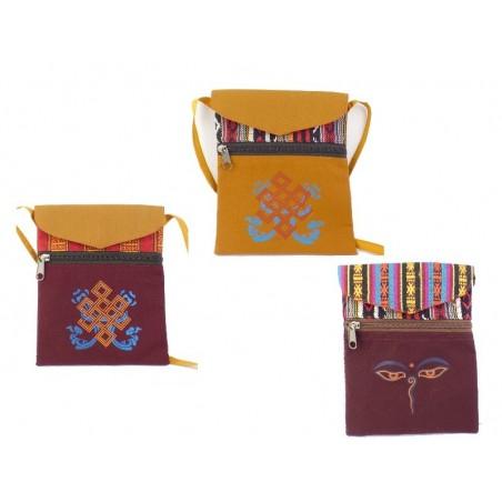 Petite sacoche bouddhiste bandoulière