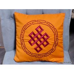 Housse de coussin bouddhiste Noeud sans fin HCB4