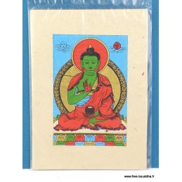 Carte postale tibétaine Bouddha Amoghasiddhi CPT2