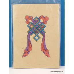 Carte postale tibétaine Noeud sans fin CPT3