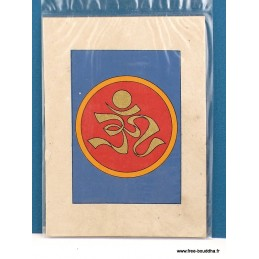 Carte postale Om tibétain CPT4