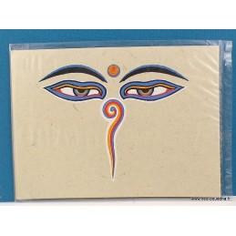 Carte postale Yeux de Bouddha CPT6