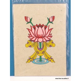 Carte postale Bouddhiste Lotus CPT8
