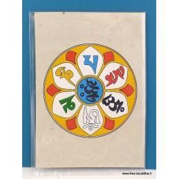 Carte postale tibétaine Mantra de Chenrezi CPT1