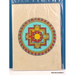 Carte postale tibétaine Mandala CPT10