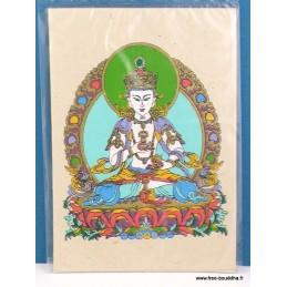 Carte postale tibétaine Vajrasattva CPT12