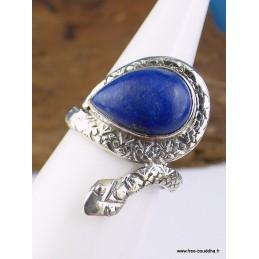 Bague Serpent en Lapis Lazuli T 52 Bagues pierres naturelles RV62