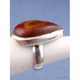 Bague Jaspe Noreena forme goutte T 56 Bagues pierres naturelles UV100.10