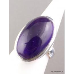 Bague Améthyste cabochon ovale T 59 Bagues pierres naturelles UV100.11