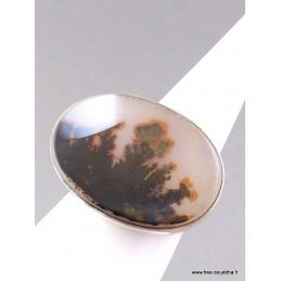 Bague argent AGATE SCENIC T60 Bagues pierres naturelles AV42.6