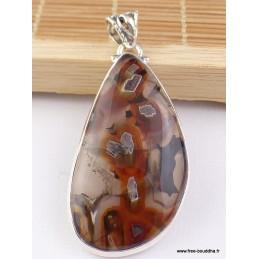 Pendentif goutte AGATE TUBULAIRE Pendentifs pierres naturelles VK52
