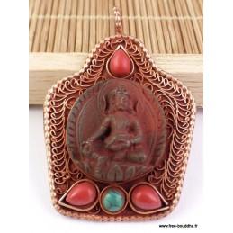 Pendentif Bouddha style antique Bijoux tibetains bouddhistes  FC1