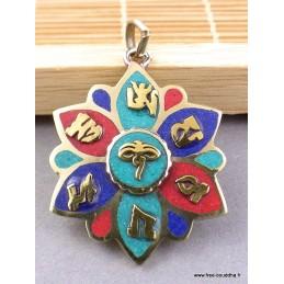 Petit pendentif Yeux de Bouddha Bijoux tibetains bouddhistes  FC6