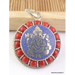 Pendentif Ganesh métal et pierres Pendentifs tibétains bouddhistes FC7.1