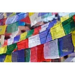 Drapeau de prières 25 drapeaux Très Grand modèle 18 x 27 cm Drapeaux tibétains TGM