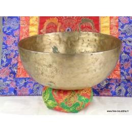 Bol tibétain ancien à double fond 20,5 cm BOLDF58