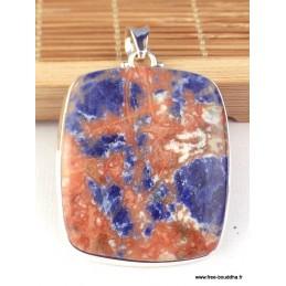 Grand pendentif Sodalite orange carré Pendentifs pierres naturelles WL29.1