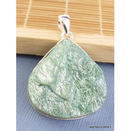 Pendentif Fuchsite brute forme goutte Pendentifs pierres naturelles RV8.2