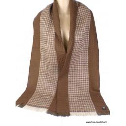 Echarpe pour homme en laine Marron Café HOM5