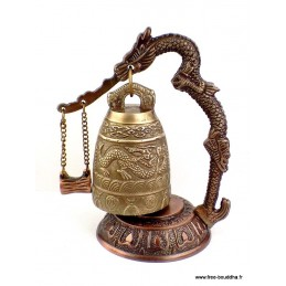 Cloche tibétaine en bronze - RARE CLOTB1