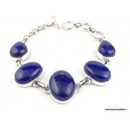 Bracelet argent Lapis Lazuli cabochon Bracelets pierres naturelles WL55.8
