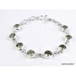 Bracelet argent Prasiolite facettée Bracelets pierres naturelles WL55.17
