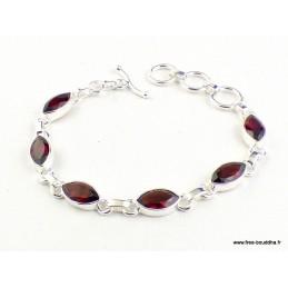 Bracelet Grenat facetté forme marquise Bracelets pierres naturelles WL55.19