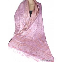 Châle pour femme en soie Rose pâle Cuivre APS172