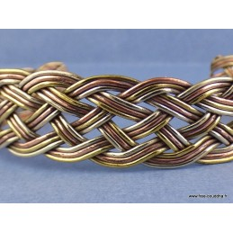 Bijou bracelet népalais TROIS TRESSES Bijoux tibetains bouddhistes  AA51.3