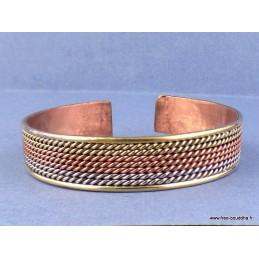 Bijou bracelet tibétain TROIS METAUX Bijoux tibetains bouddhistes  AA51.6