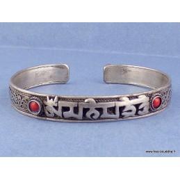Bracelet tibétain filigrane Mantra de Chenrezi Bijoux tibetains bouddhistes  BRACT1