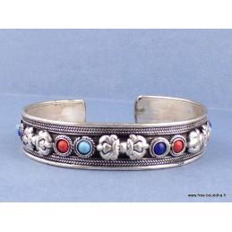 Bracelet tibétain bouddhiste DORJE et pierres Bijoux tibetains bouddhistes  ref 19