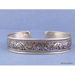 Bracelet tibétain ciselé Bijoux tibetains bouddhistes  ref 3533