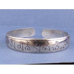 Bracelet tibétain Mantra de Chenrezi sanscrit Bijoux tibetains bouddhistes  AA54
