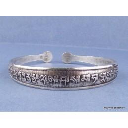 Bracelet tibétain orné d'un mantra bouddhiste Bijoux tibetains bouddhistes  AA57