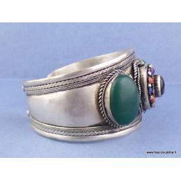 Bracelet tibétain Onyx pierres fantaisie Bijoux tibetains bouddhistes  ref 52B