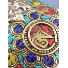 Grand pendentif bouddhiste OM Bijoux tibetains bouddhistes  ref 30