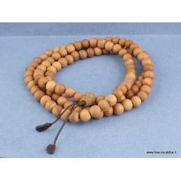 Mala de prières bouddhiste 108 perles en Bois de Santal Objets rituels bouddhistes BM32.1