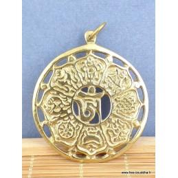 Pendentif tibétain en laiton Bijoux tibetains bouddhistes  BHP40