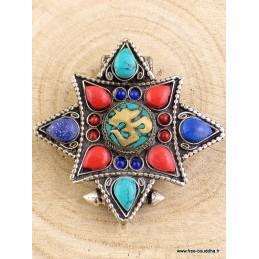 Bijou bouddhiste pendentif GHAU OM TIBETAIN Bijoux tibetains bouddhistes  AAPG10