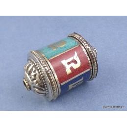 Pendentif MOULIN A PRIERES CHENREZI Bijoux tibetains bouddhistes  6354.1