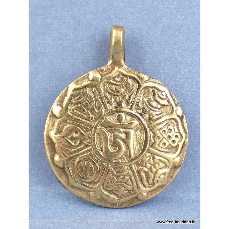 MANTRA DE CHENREZI pendentif bouddhiste Bijoux tibetains bouddhistes  BHP41