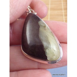Pendentif asymétrique Prehnite Boulder Pendentifs pierres naturelles DA2.2