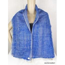 Echarpe en laine bleu Jeans Nos Châles ECHA21